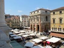 Signori do dei da praça em Vicenza foto de stock