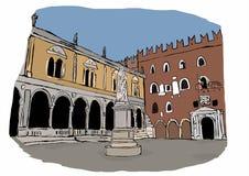 Signori Square, Verona Stockbilder