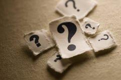 Signos de interrogación Imagen de archivo libre de regalías
