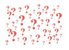 Signos de interrogación rojos imágenes de archivo libres de regalías