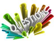 Signos de interrogación - símbolos coloridos 3D Imagenes de archivo