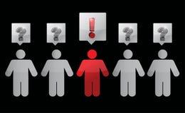 Signos de interrogación y gente de las exclamaciones Fotografía de archivo