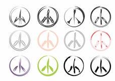 Signos de la paz Fotos de archivo libres de regalías