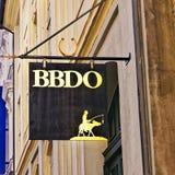 Signplate агенства BBDO в Копенгагене стоковое изображение