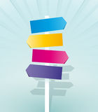 Signpos del color Imagen de archivo libre de regalías