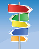 Signpost. All elements and textures are individual objects. Vector images scale to any size Stock Photography