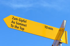 Signpost Stock Photography