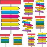 Signpost. Set of different signpost -  illustration Stock Image
