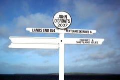 The Signpost. At John o' Grouts royalty free stock photos