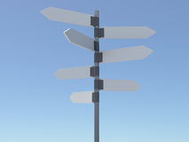 Signpost. Clear signpost over blue sky Royalty Free Stock Image