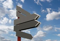 Signpost. Blank signpost. Add your own text royalty free stock photography