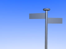 Signpost. A 3d illustration of a blank signpost. Ready to be filled with your individual text vector illustration