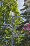 signpost Stockbild