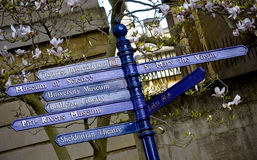 Signpost. Sign post for tourists in Oxford, England Royalty Free Stock Photo