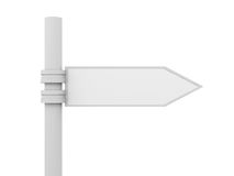 Signpost. 3D rendered illustration. Isolated on white Royalty Free Stock Photo