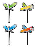 Signpost. Four arrow signpost pattern design Royalty Free Stock Image