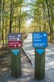 Signpost in African Rainforest Pavillion, Toronto Zoo Stock Images