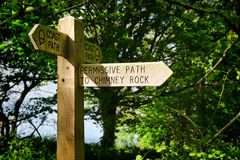Signpost Along The Coastal Path Royalty Free Stock Images