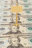 Signpost on the American dollars Stock Images