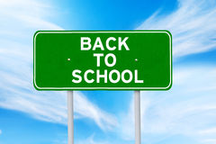 Signpost of back to school Royalty Free Stock Photo