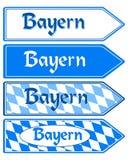 Signpost Bayern Royalty Free Stock Photo