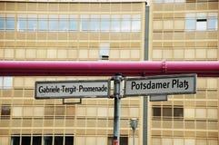 Signpost in Berlin Stock Image
