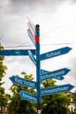 signpost in Berlin Stock Photo