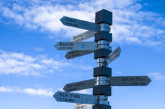 Signpost at Cape Point Stock Photos