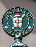 A signpost for the City of York.  royalty free stock image