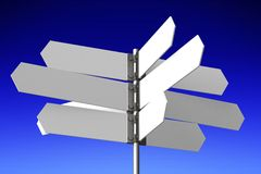 Signpost concept... Royalty Free Stock Images