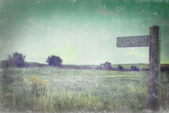 Signpost in Countryside - Aged and Grungy Royalty Free Stock Image