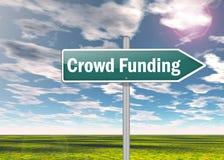 Signpost Crowd Funding vector illustration