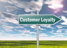 Signpost Customer Loyalty. Signpost with Customer Loyalty wording Royalty Free Stock Photos
