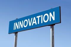 Signpost da inovação imagens de stock royalty free