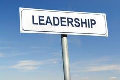 Signpost da liderança Imagens de Stock Royalty Free