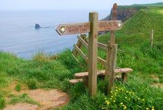 Signpost da maneira de Cleaveland Fotografia de Stock Royalty Free