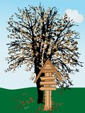 Signpost de madeira Fotografia de Stock