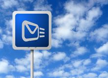 Signpost del email Fotografia Stock