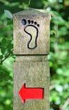 Signpost, der Richtung zeigt Stockbild