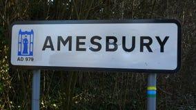 Signpost di Amesbury Fotografie Stock