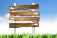 Signpost di legno fotografia stock