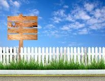 Signpost di legno immagine stock