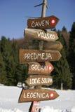 Signpost di legno Immagini Stock