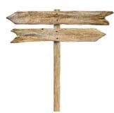 Signpost di legno Fotografie Stock Libere da Diritti