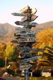 Signpost di Malibu Fotografia Stock Libera da Diritti