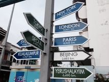 Signpost/ distance sign Royalty Free Stock Photo