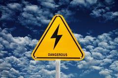 Signpost do clima de tempestade Imagem de Stock