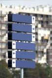 Signpost em branco Multidirectional do metal Fotos de Stock