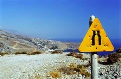 Signpost em Crete imagem de stock