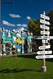 Signpost forest, Watson Lake, Yukon Royalty Free Stock Image